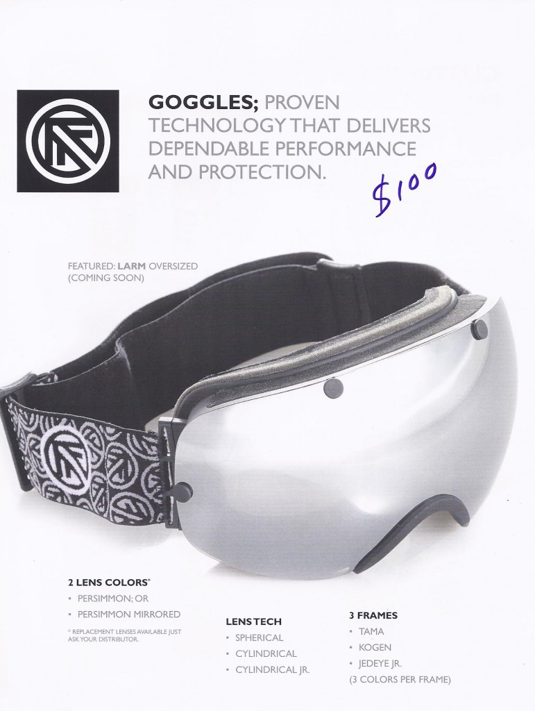 Filtrate Larm Goggles