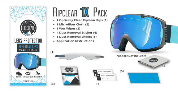 Ripclear Spherical Lens Protector 1X Pack