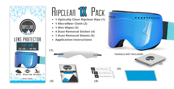 Ripclear Flat ( Cylindrical ) Lens Protector X1 Pack