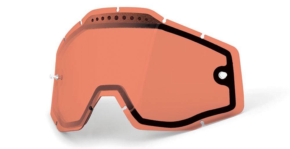 100/% Injected Anti-Fog Goggle Lens w//Posts RACECRAFT//ACCURI//STRATA Blue Mirror