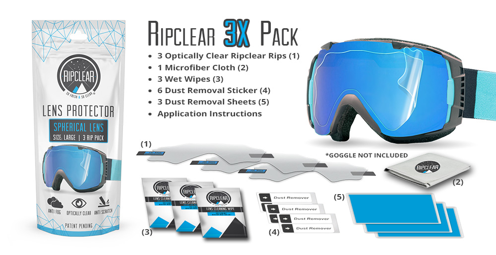 Ripclear Spherical Lens Protector 3X Pack
