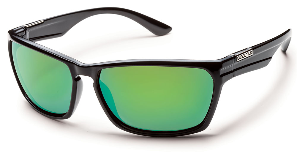 f393f678357f SUNCLOUD Cutout Sunglasses w Polarized Lenses + Protective Sleeve - New